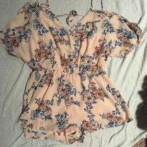 Dresses & Skirts - Boho open back romper OBO NEED GONE