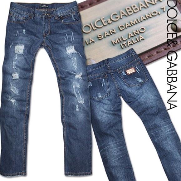 d32975c7f651e3 Dolce   Gabbana Jeans   Dolce Gabbana Distressed Mens   Poshmark