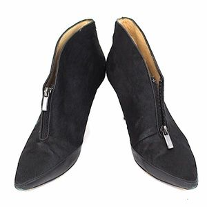 Boutique 9 Ankle Boots Black 8M Women Leather Fur