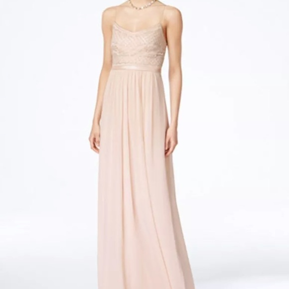 Adrianna Papell Dresses | Beaded Chiffon Gown Size 4 | Poshmark