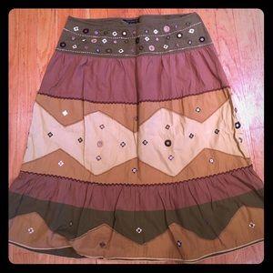 Boho style skirt.