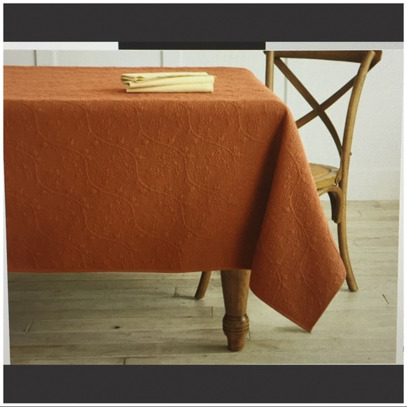 (SOLD)Williams Sonoma Floral Boutis Tablecloth