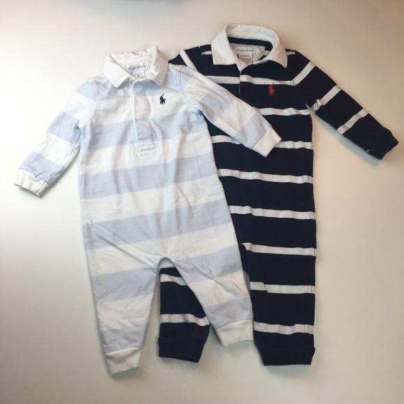 41ea2e00595b Bundle of 2 Ralph Lauren Baby Boy Bodysuits 6-9m. M 5a05ff8e9c6fcf712108cb56