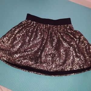 Jessica Simpson Gold Sequined Skirt
