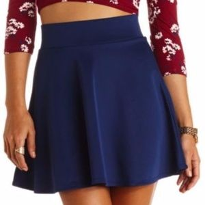 Dresses & Skirts - Navy Skater Skirt Fall Fashion