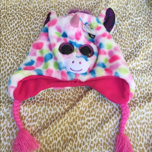 c5620084f90 Ty beanie boos plush 3-D unicorn hat