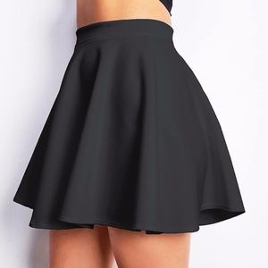 Dresses & Skirts - Black Skater Skirt Fall Fashion