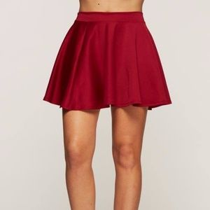 Dresses & Skirts - Burgundy Skater Skirt fall Fashion