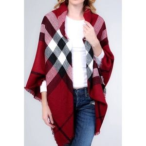 Accessories - NEW plaid blanket scarf