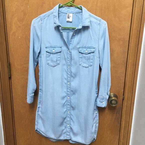 d135ef5a34dd H&M Dresses   Hm Denim Shirt Dress   Poshmark