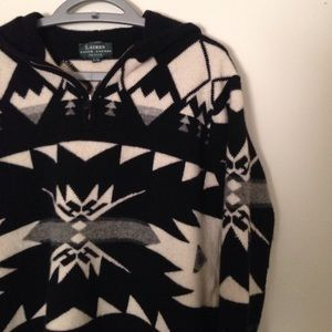 Ralph Lauren tribal pull over with hoodie