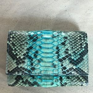 Stunning Italian PYTHON wallet NEW!! beautiful!