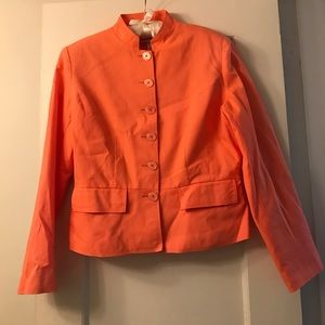 Vintage coral linen blazer