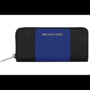 ISO Michael kors center stripe wallet