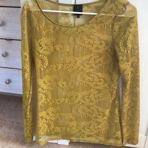 Gold lace Ella moss top