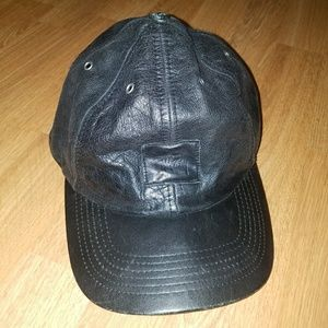 Stussy leather black hat