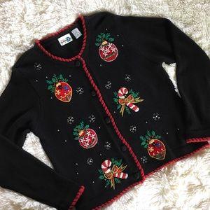 "🎄phd • vintage beaded ""ugly christmas sweater"""