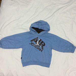 cac8ed667bef46 Air Jordan Shirts   Tops - Blue sweatshirt Jordan size 3t for boys
