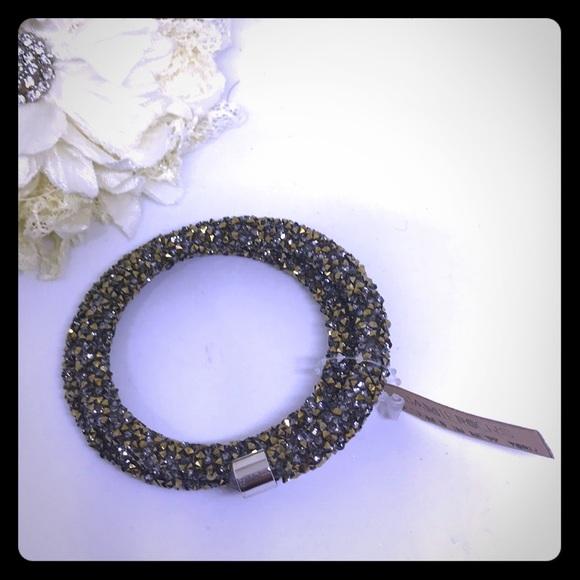 Gold Flake Wrap Bracelet