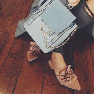 Handbags - Makayla Blue Vegan O Ring Mini Backpack