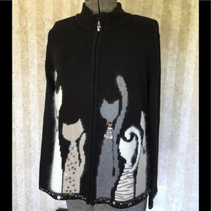 Coldwater Creek cat sweater.