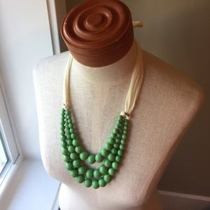 Mint Green Large beaded necklace, NWOT
