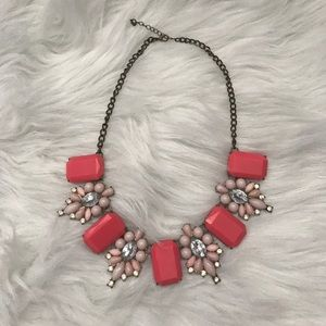 Jewelry - Pink J Crew Inspired Statement Necklace