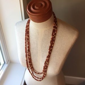 Long Beaded Necklace by The Limited