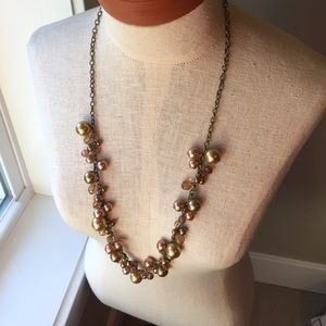 Long Necklace with bead and pearl style design