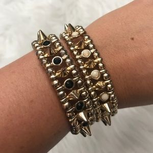 Jewelry - Pair of Spike Bracelets