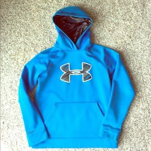 Under armor Youth M Blue hoodie