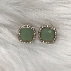 Jewelry - Green Rhinestone Statement Earrings