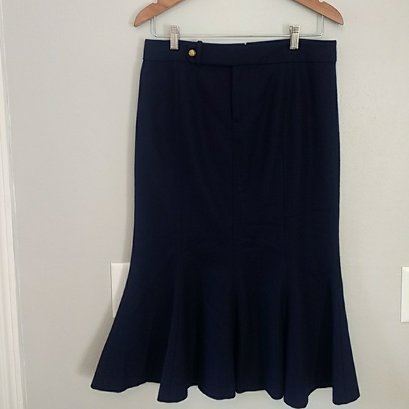 Vintage NWT Dark Navy Blue Midi Shirt