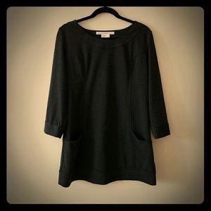 MAX STUDIO Dark Grey Dress with Pockets