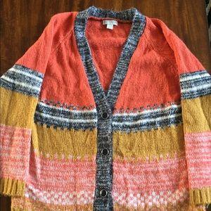 Multicolored Oversized Cardigan