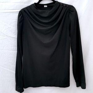 Tops - Vintage Drape Neck Blouse