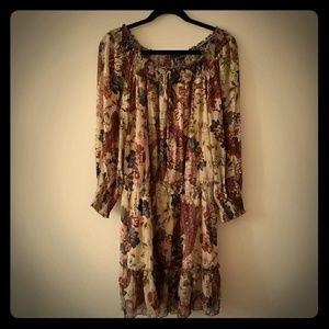 Floral Loose Ruffle Dress