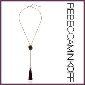 NWT Rebecca Minkoff Jeweled Tassel Necklace