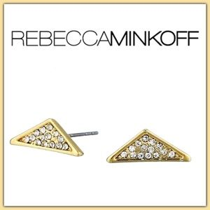 NWT Rebecca Minkoff  Caged Crystal Pave Studs