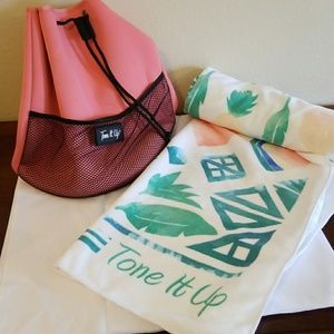 Accessories - Tone It Up Bucket Bag and Beach Towel