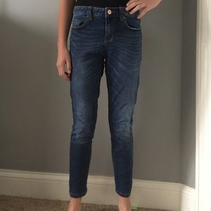 American Rag ankle blue jeans.