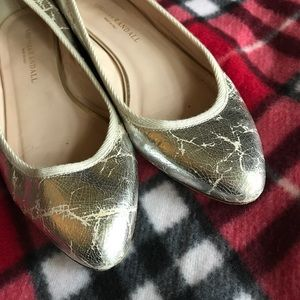 Loeffler Randall Metallic Crackled Flats
