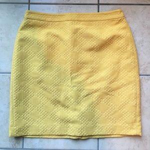 Banana Republic Mustard Yellow Pencil Skirt