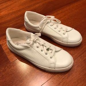 Topshop white faux lizard skin sneakers