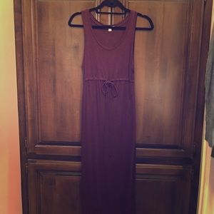 Gap burgundy long dress