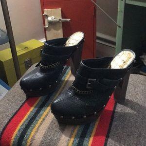 Sam Edelman - Leather Heeled Clogs