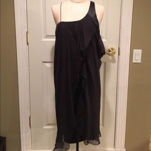 POLECI Black Sheer Dress with Satin Lining