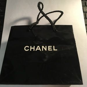 Chanel gift bag small pre owned black w/logo Gift