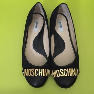 Moschino 10mm Quilted Leather Ballerina Flats