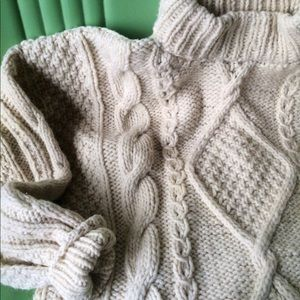 Other - Fishermans sweater MENS cable knit chunky sweater